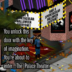 You unlock this door with the key of imagination. You're about to enter... The Palace Theater. #MVK #MyVirtualKingdom