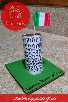 Leaning Tower Of Pisa. Italy Kids Craft Project