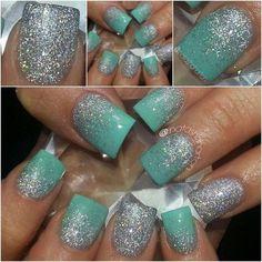 Teeeaaal prom nails, wedding nails, gorgeous nails, pretty nails, hair and nails Get Nails, Prom Nails, Fancy Nails, Love Nails, Wedding Nails, How To Do Nails, Hair And Nails, Sparkle Nails, Gold Sparkle