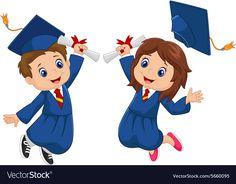 Illustration about Illustration of Cartoon Graduation Celebration. Illustration of human, preschool, cartoon - 56088580