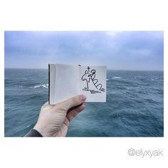 Elyx by YAK ✏️❤️ @ElyxYak 9 janv.  Good Morning !   #Elyxyak #imagination #smile #goodmorning #freedom http://ift.tt/1AP4pss