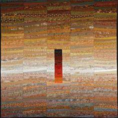 Desert solitaire--quilt by Ann Brauer Magazine Art, Fractal Art, Fabric Art, Quilt Making, Quilting Designs, Textile Art, Fiber Art, Quilt Patterns, Quilt Art