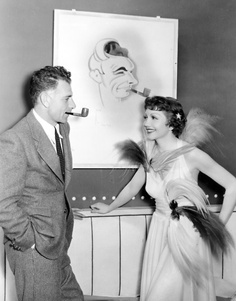 Claudette Colbert and director Wesley Ruggles during the filming of The Gilded Lily 1935 Vintage Movie Stars, Vintage Movies, Hollywood Icons, Classic Hollywood, Claudette Colbert, France, Famous Women, Best Actress, Classic Movies