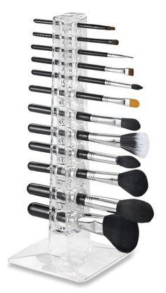 Acrylic Cosmetics 12 Makeup Beauty Brush Stand Organizer