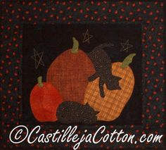 Cats and Pumpkins Wall Hanging by castillejacotton on Etsy, $59.00