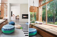 This bright and airy extension to a California bungalow by Melbourne-based BG Architecture is all about flexible open plan living and a seamless Oasis, Melbourne, Modern Lake House, California Bungalow, Built In Seating, Victorian Terrace, Big Windows, Open Window, Sweet Home