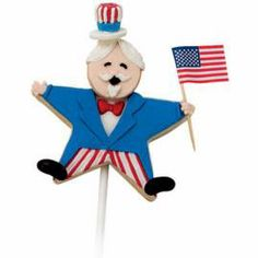 Popping With Pride Cookies. It's a crunchy country celebration, with Uncle Sam cookies cut with Star Comfort-Grip Cutters. He'll rally the spirits of everyone at the fireworks festivities.