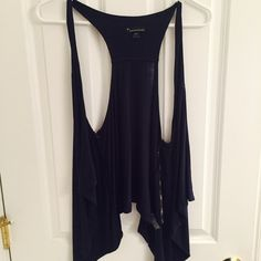 Pull Over Shirt Navy thin pull over. Never worn. Forever 21 Tops Tees - Short Sleeve