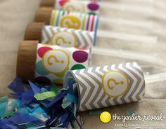 Confetti Push-Pop Revealers for Gender Reveal Parties #genderreveal