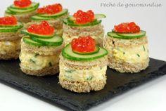 Mini sandwiches au crabe