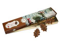 """Aqui está a primeira novidade da Arcádia Casa do Chocolate para este Natal. Sendo uma planta típica da época, estes """"Azevinhos"""" de chocolate de leite não podem faltar lá em casa. E correm mesmo o risco de se tornarem o centro das atenções."""