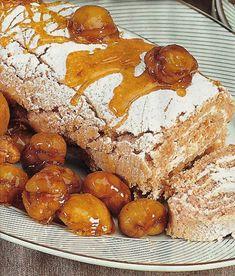 Torta de Castanhas com Chantili (chestnut roll) https://www.receitassimples.pt/torta-de-castanhas-com-chantili/