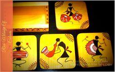 Warli Tea Coasters Design Decor & Disha: Inspiring Eminent Artist: Safal Chitre