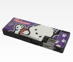 """""""Stationery pouches & cases"""": Pochacco purple mechanical pencil case, as courtesy of Sanrio Pencil Case Pouch, Pochacco, Mechanical Pencils, Good Ol, School Days, Sanrio, My Childhood, Pouches, School Supplies"""