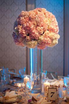 tall vase / modern floral arrangement
