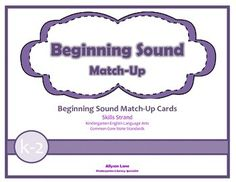 Use these Beginning Sound Match-Up cards to promote students' letter-sound recognition. Use letter tiles to match beginning sounds to the pictures. Print, cut and laminate for extended use. 14 cards included.