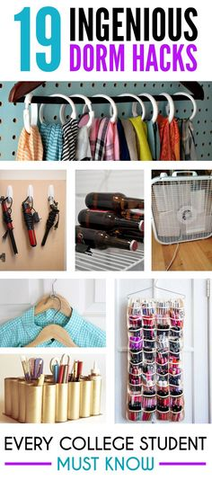 These dorm hacks are ones you will have wish you knew sooner, simply because it will make your life much easier! Here's some top college dorm hacks!