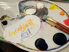Watercolor Lettering, Celebration, Breakfast, Cake, Desserts, Food, Morning Coffee, Tailgate Desserts, Deserts