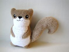 Plush Squirrel Light Brown Toy Baby Gift Woodland Stuffed Animal on Etsy, $13.00