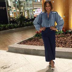Para quem ama look all jeans! A minha blusa da @damyller é mara. Perfect! ❤️#estiloiguatemi #estiloandreafialho #andreafialho #loucaporjeans