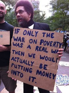Funny Political Protest Signs: War on Poverty