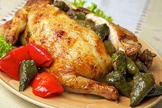 Цыпленок, фаршированный голубцами