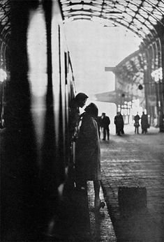 Fred den Ouden, Kissing goodbye, Amsterdam, 1967. » portrait » girl » lady » boy » bro » guy » lady » woman » photography » session » lights » photo » instagram worthy » bro » dude » wassup man » pins for pins » pinterest » style » fashion » adventure » tones » shading » lighting » family »