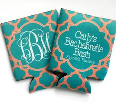 Love koozies!!! These will be my wedding favors!