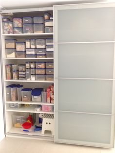 My Ikea Pax wardrobe used as a kitchen pantry & IKEA Pantry Hack - Kitchen Pantry using Ikea Billy bookcase ...