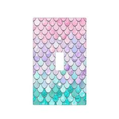 Mermaid Decor Light Switch Cover Pastel - girl gifts special unique diy gift idea - May 11 2019 at Mermaid Bathroom Decor, Mermaid Bedroom, Unicorn Bedroom, Mermaid Nursery Theme, Mermaid Bedding, Design Seeds, Little Mermaid Bathroom, Little Mermaid Nursery, Deco Disney