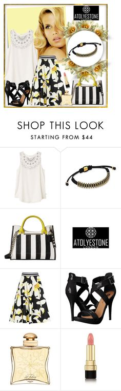 """ATOLYESTONE"" by car69 ❤ liked on Polyvore featuring Post-It, Consuelo, RVCA, Steve Madden, Alice + Olivia, Michael Antonio, Hermès, Dolce&Gabbana and atolyestone"