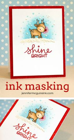 Ink Masking and Faux Snow Video