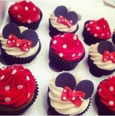 Minnie Mouse Cupcakes!  So Cute!!