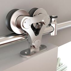 The Stainless Steel Top Mount Dual Wheel Rolling Barn Door Hardware Kit can be used on wood doors and can be used on doors. Includes all of the parts and fasteners that are required for 1 rolling barn door. Wood Glass Door, Wood Barn Door, Glass Barn Doors, Diy Barn Door, Wood Doors, Slab Doors, Sliding Barn Door Track, Interior Sliding Barn Doors, Double Barn Doors