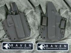 NEW RAVEN CONCEALMENT GLOCK 17 22 31 PHANTOM MODULAR KYDEX OWB GUN HOLSTER 9 40 357