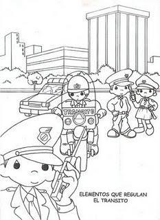 Dibujos para colorear de educacin vial  School