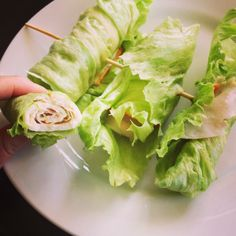 Healthy lunch idea: turkey-cheese-lettuce lunch wraps. Mayo too, I can't help it:)