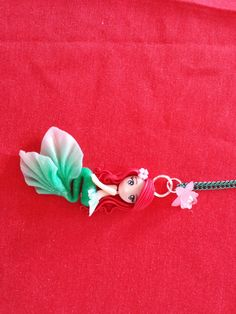 Little mermaid necklace in fimo polymer clay by Artmary2 on Etsy, €12.00