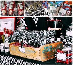Cars Party ideas - with links to printables, etc.