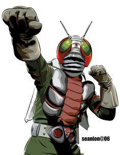 kamen rider by seanlon on DeviantArt Robot Cartoon, Cartoon Art, Optimus Prime Halloween Costume, Gundam, Hero Tv Show, Fantasy Figures, Kamen Rider Series, Cartoon Movies, Power Rangers