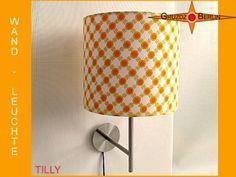 Wandleuchte TILLY Ø 20 cm Wandlampe Retrodesign: freundlich aus  original Retrostoff mit Prilblumen aus den 70er Jahren