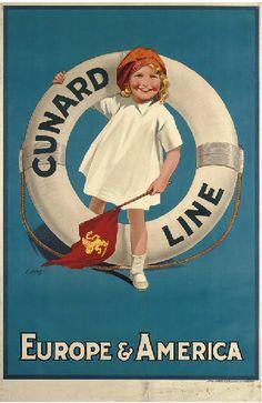 Cunard Line - Europe & America - (Byatt) -