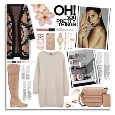 """""""Bella Hadid"""" by kumi-chan ❤ liked on Polyvore featuring Anne Klein, Eleventy, Sam Edelman, Valentino, Soap & Glory, Bare Escentuals, MICHAEL Michael Kors and Elie Saab"""