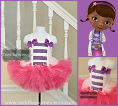 Doc McBirthday Girl Tutu Dress for Doc Mcstuffin by RockTheJourney, $66.00