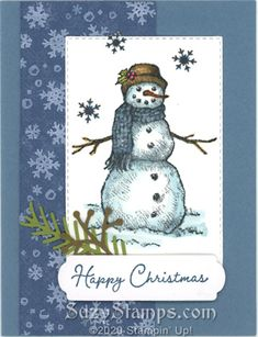 Snowman Cards, Stampin Up Christmas, Card Crafts, Embossing Folder, Cute Cards, Stampin Up Cards, Handmade Cards, Card Ideas, Christmas Cards
