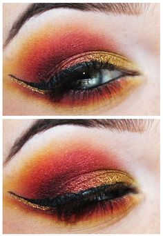 Godric Gryffindor by Unique-Desire on DeviantArt Crazy Eyeshadow, Eyeshadow Looks, Creative Makeup, Simple Makeup, Maquillage Harry Potter, Harry Potter Makeup, Ball Makeup, Eye Makeup Art, Makeup Goals