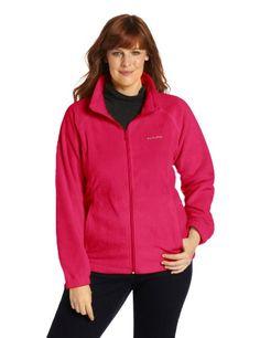 Columbia Women's Plus-Size Benton Springs Full Zip Plus, Bright Rose, 3X - http://www.exercisejoy.com/columbia-womens-plus-size-benton-springs-full-zip-plus-bright-rose-3x/athletic-clothing/