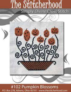 Pumpkin X-stitch