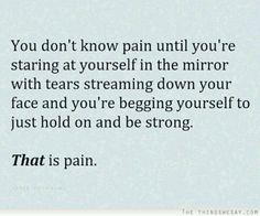 you dont know pain