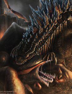 The Alpha Predator - Godzilla Fan Art Created by Rushelle Kucala